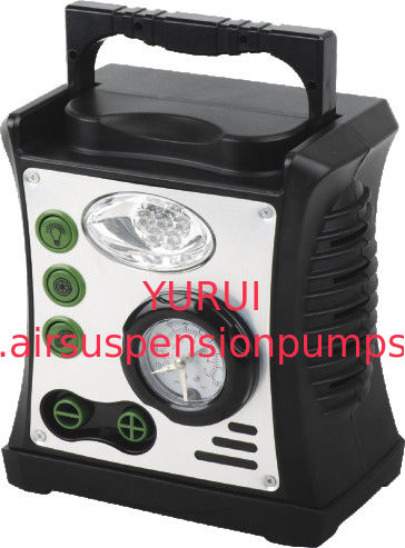 Durable Black Plastic 4 In 1 Car Air Compressor ,  Various Functions For Your Choice Fast Infaltion For Air System