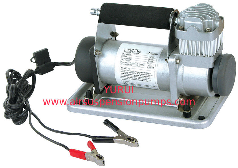 Metal Vehicle Air Compressors Portable Silver Fast Inflation12V 150 Psi Air Compressor