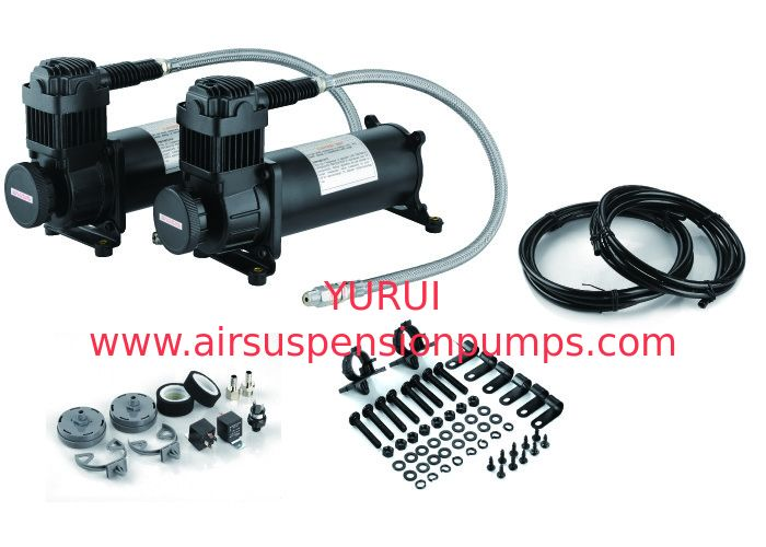 Durable Heavy Duty Dual Black Air Suspension Compressor For Strong Power