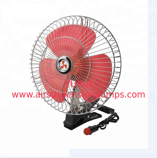 Auto Electric Cooling Fans For Trucks , Red And Silver Cooling Fan For Car