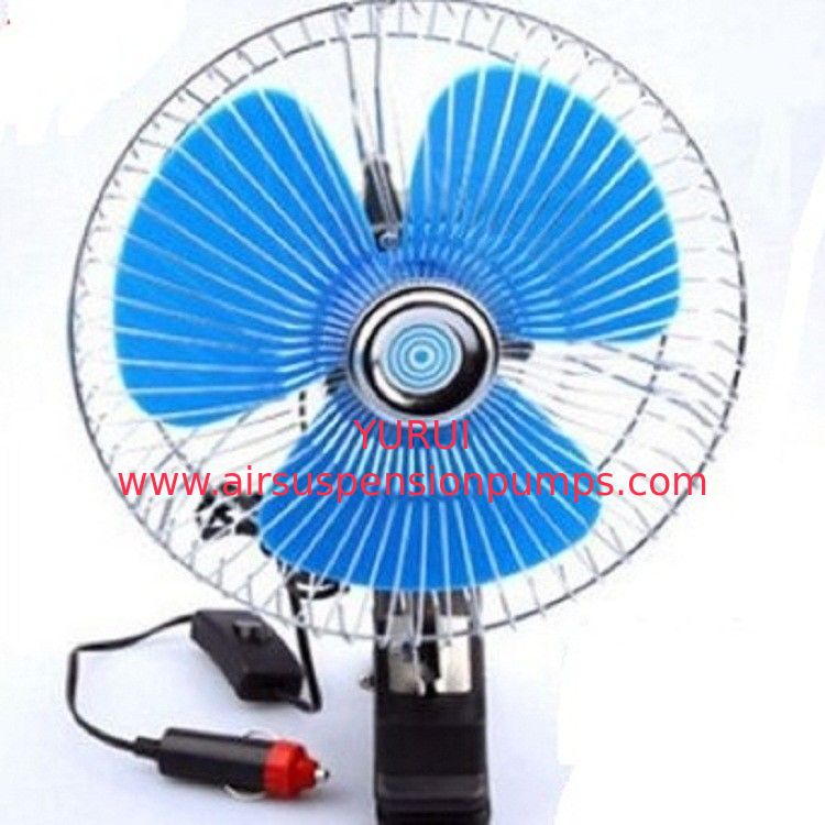 Plastic Back Guard Car Cooling Fan , Mini Auto Cool Fan With Switch Dc12v