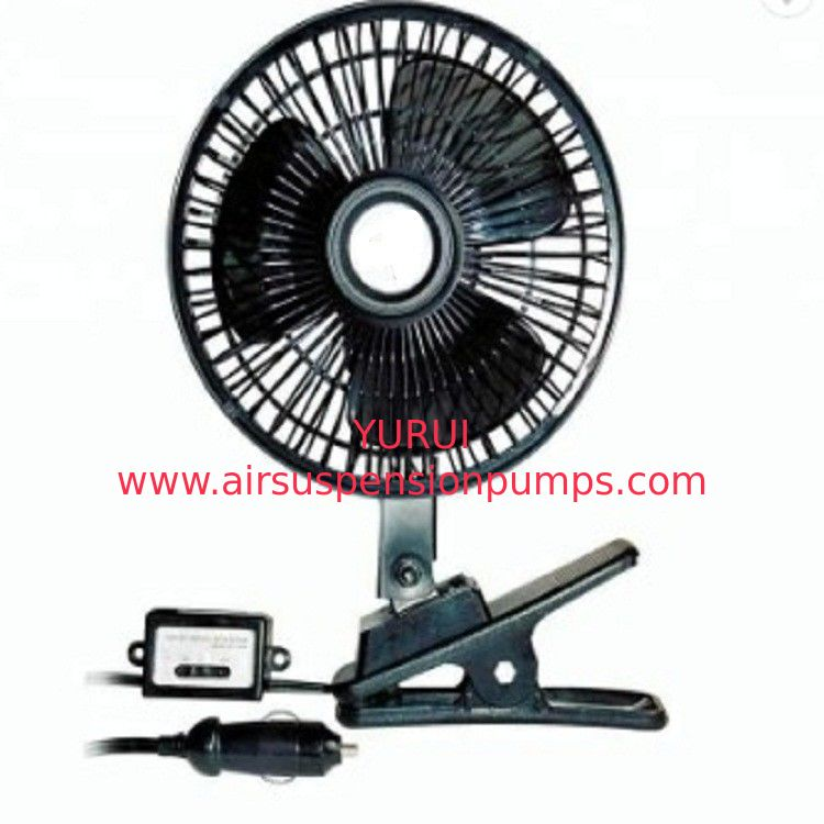 Black Car Cooling Fan Plastic Material 12v / 24v With Half Safety Metal Guard