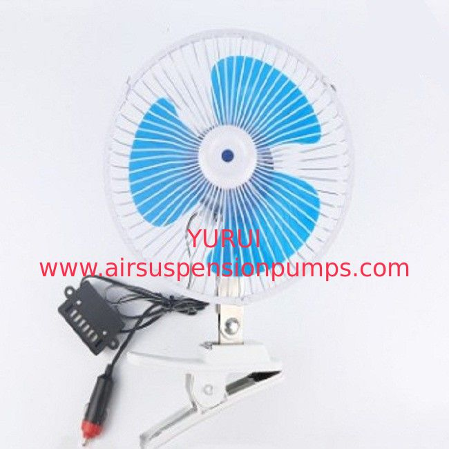Blue Electric Car Cooling Fan 12v / 24v Screw Mounting Plastic Material